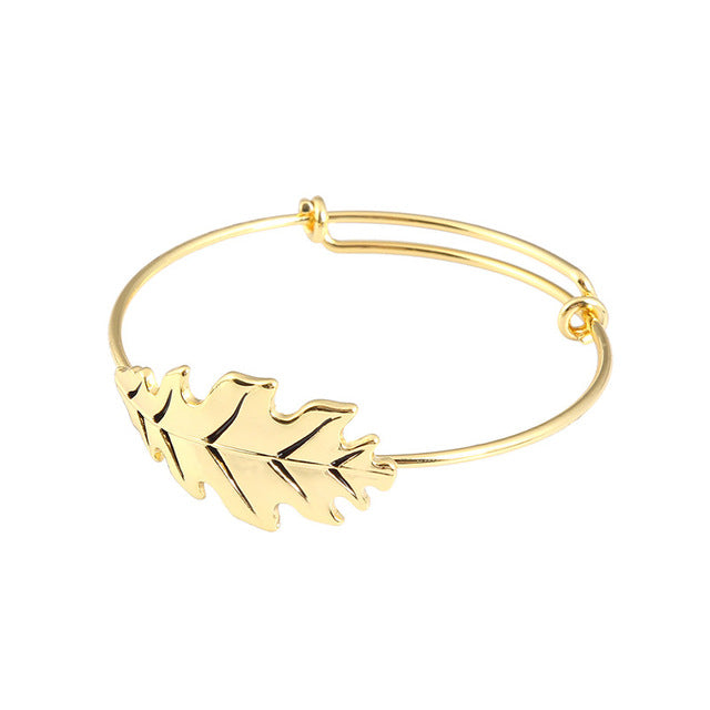 Leaf Design - Baby Gold Bracelet