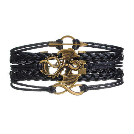 Multi-Color Dragon Arrow Wrap Bracelet