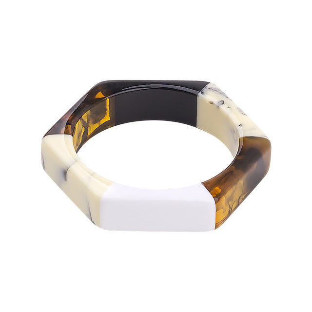 Hexagon Unisex Bangle Bracelet