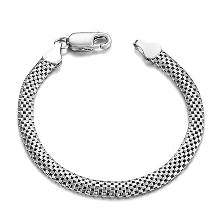 925 Sterling Silver Snake Chain Bracelet for Men