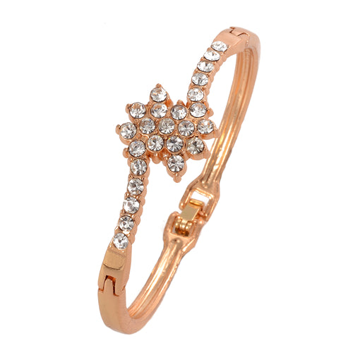 Gold Plated Rhinestone Bracelet for Women