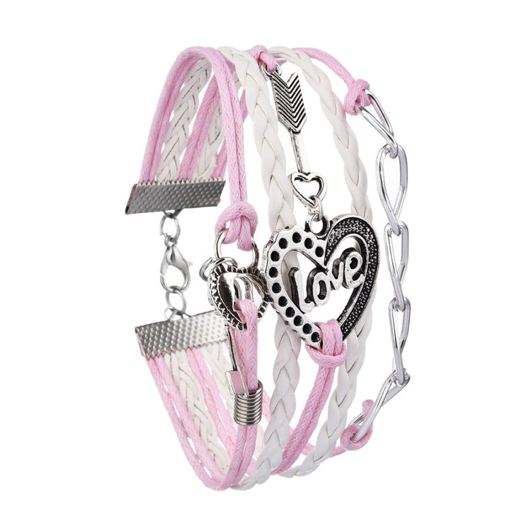 Multilayer Braided - Love Bracelet
