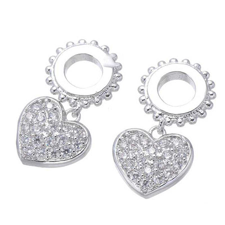 Heart Rhinestones Charms for Bracelet