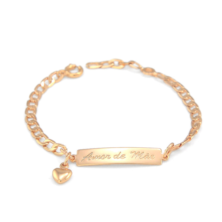 Engraved Baby Gold Bracelet