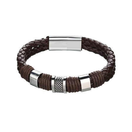 Exquisite Woven Leather Bracelet for Men