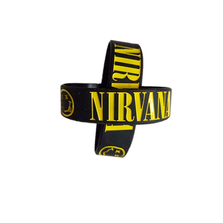 Diehard Nirvana Fan Rubber Bracelet