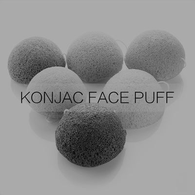Konjac Activated Bamboo Charcoal Facial Puff Sponge