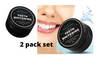 Twin Pack Activated Charcoal Organic Teeth Whitening Powder - Charcoal You