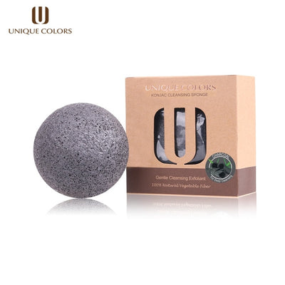 Bamboo Charcoal Cosmetic Puff Sponge - Twin Pack