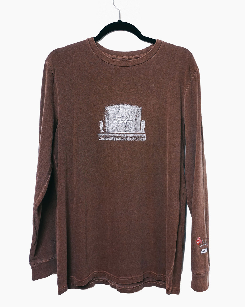Thank You Longsleeve T Brown