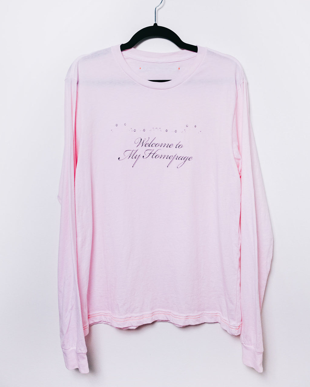 Welcome to My Homepage Longsleeve T Pink