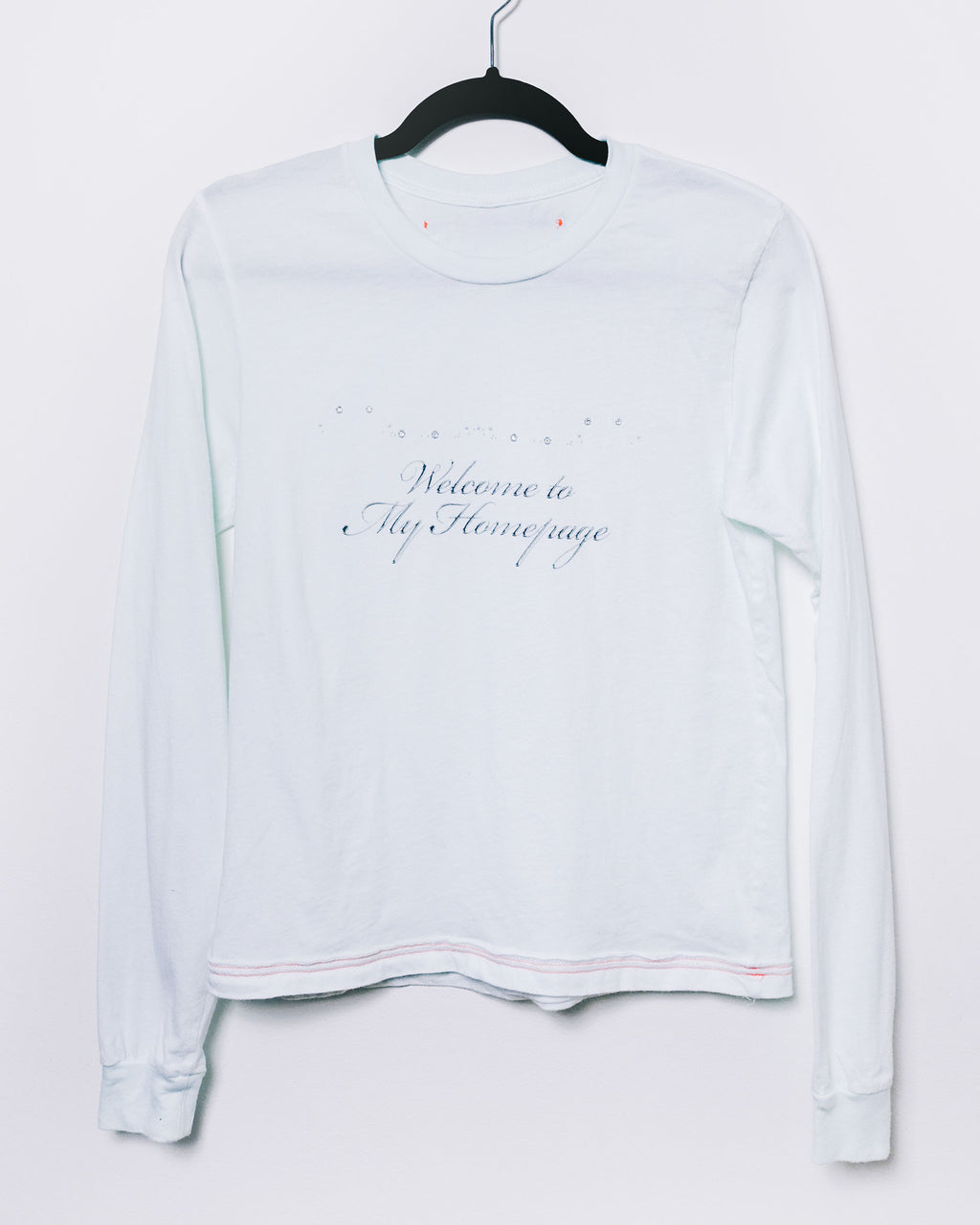 Welcome to My Homepage Longsleeve T White