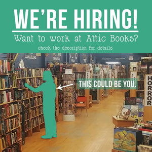 We're hiring a book clerk or two!