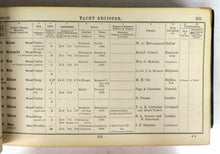 Lloyd's Register of British and Foreign Shipping. Yacht Register From 1st May, 1891, to 30th April, 1892
