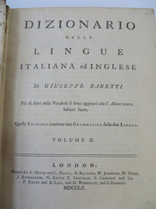 A Dictionary of the English and Italian Languages