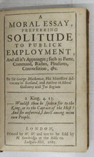 The Religious Stoic / A Moral Essay, Preferring Solitude to Public Employment
