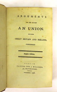Tracts on the Subject of an Union between Great Britain and Ireland. Volume The First