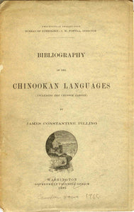 Bibliography of the Chinookan Languages (Including the Chinook Jargon)