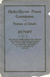 Hydro-Electric Power Commission of the Province of Ontario Report 1908
