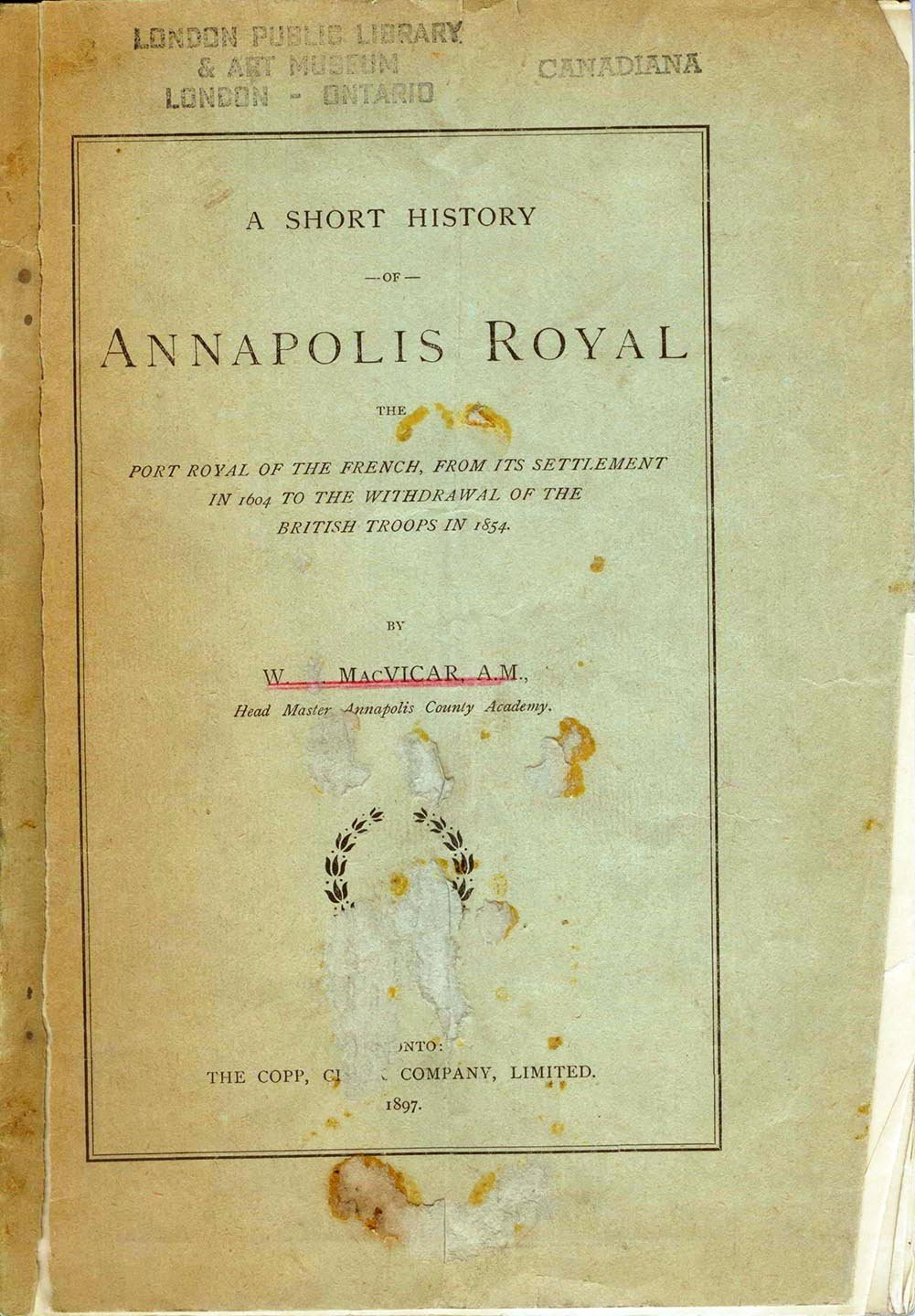 A Short History of Annapolis Royal