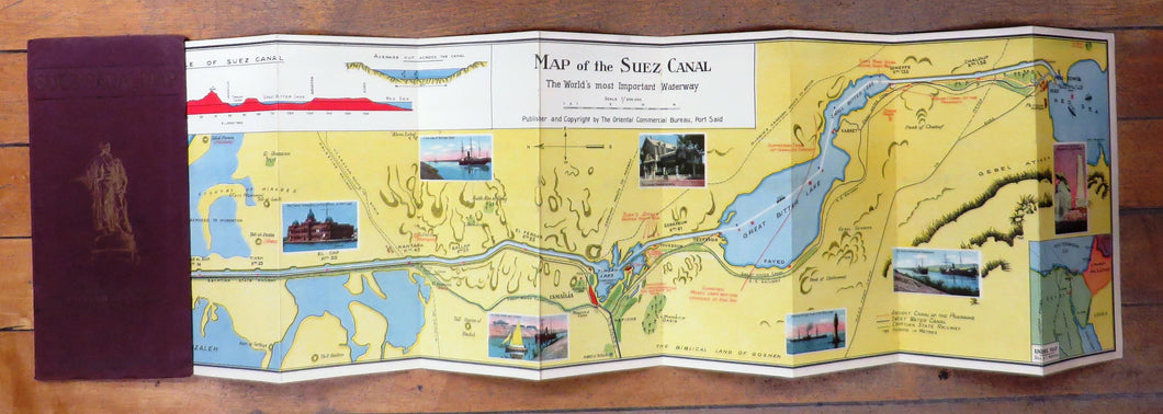The Suez Canal: Maps and Notes of the World's Most Important Waterway (in English, French, German and Italian)