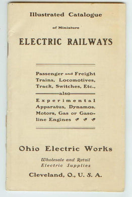 Illustrated Catalogue of Miniature Electric Railways