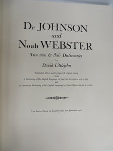 Dr Johnson and Noah Webster: Two Men & Their Dictionaries