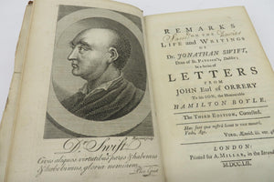 Remarks on the Life and Writings of Dr. Jonathan Swift, Dean of St. Patrick's, Dublin; In a Series of Letters from John Early of Orrery to his Son, the Honourable Hamilton Boyle