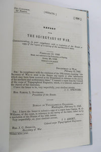 Report from the Secretary of War, Communicating in part complaince with a resolution of the Senate, a copy of the report of a survey of the northwestern lakes
