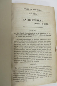 Report of the Canal Commissioners on a resolution of the Assembly of the 23rd February, relataive to the cost of canals and rail-roads