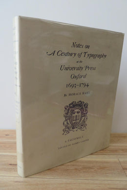 Notes on a Century of Typography at the University Press Oxford 1693-1794