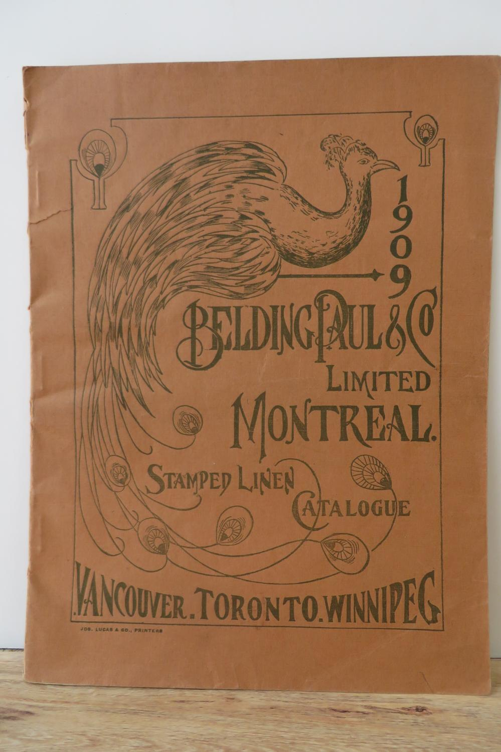 1909 Belding, Paul & Co. Limited Montreal Stamped Linen Catalogue