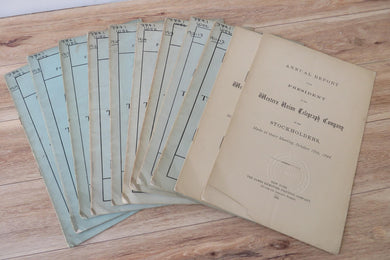 Annual Reports of the Western Union Telegraph Company