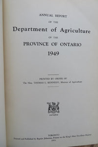 Annual Report of the Department of Agriculture of The Province of Ontario 1949