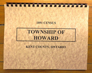 1891 Census, Township of Howard