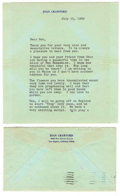 Letter to Robert Jean. July 15, 1969