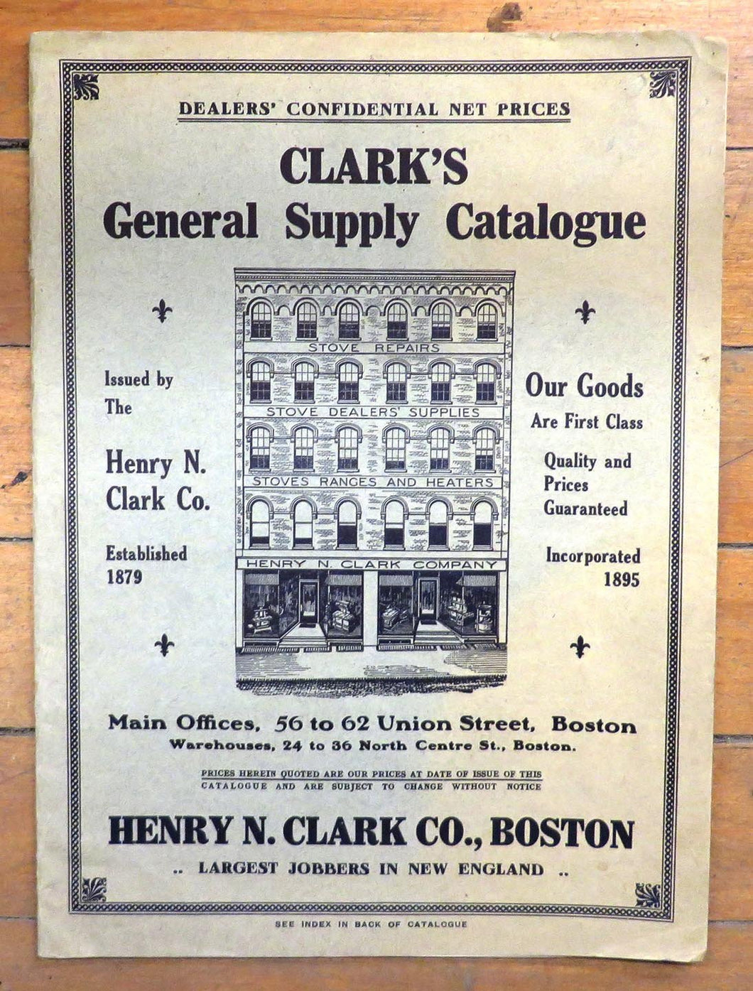 Clark's General Supply Catalogue, 1912