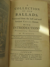 A Collection of Old Ballads. Corrected from the best and most Ancient Copies Extant. With Introductions Historical, Critical or Humorous