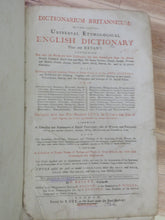 Dictionarium Britannicum: Or a more Compleat Universal Etymological English Dictionary Than any Extant