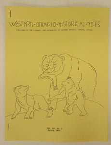Western Ontario Historical Notes Spring 1970