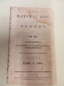 The Natural Son: A Comedy in Five Acts