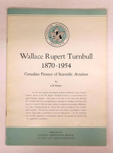 Wallace Rupert Turnbull 1870-1954: Canadian Pioneer of Scientific Aviation