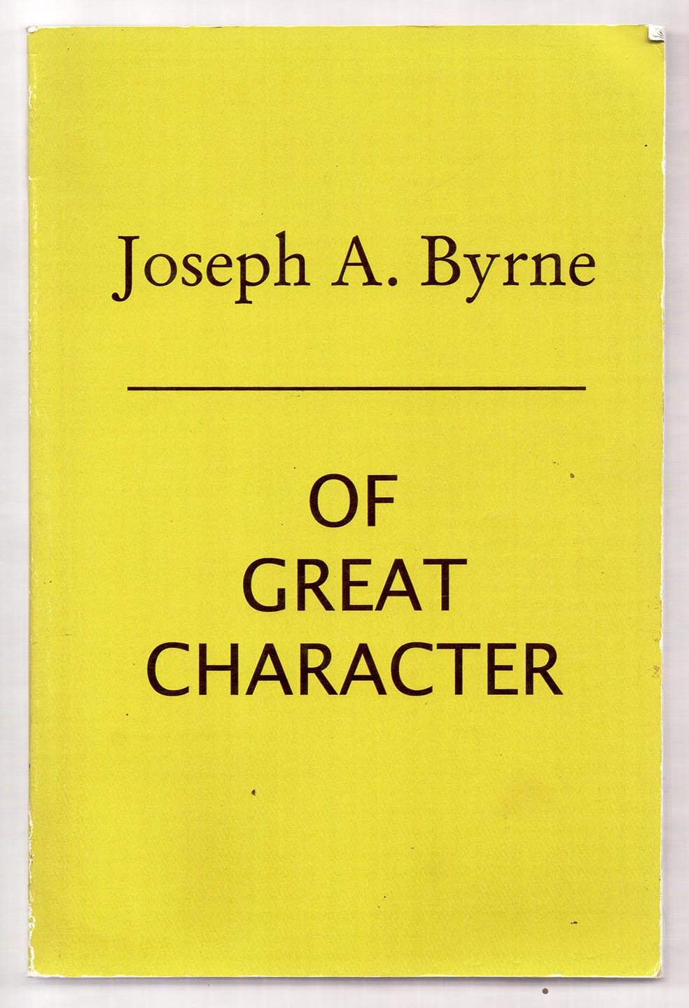 Of Great Character