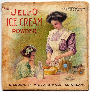 Jell-O Ice Cream Powder booklet