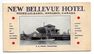 New Bellevue Hotel flyer