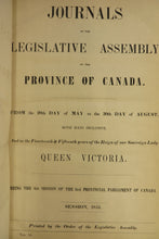 Journals of the Legislative Assembly of the Province of Canada.
