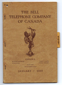 Oshawa telephone book, January 1939