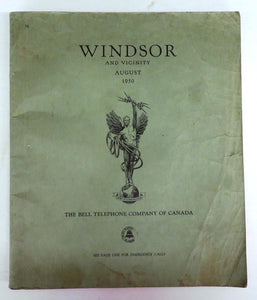 Windsor and Vicinity telephone book, August 1950