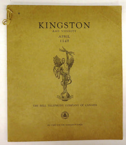 Kingston and Vicinity telephone book, April 1948