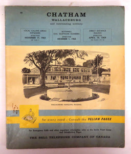 Chatham and Wallaceburg telephone book, December 1963